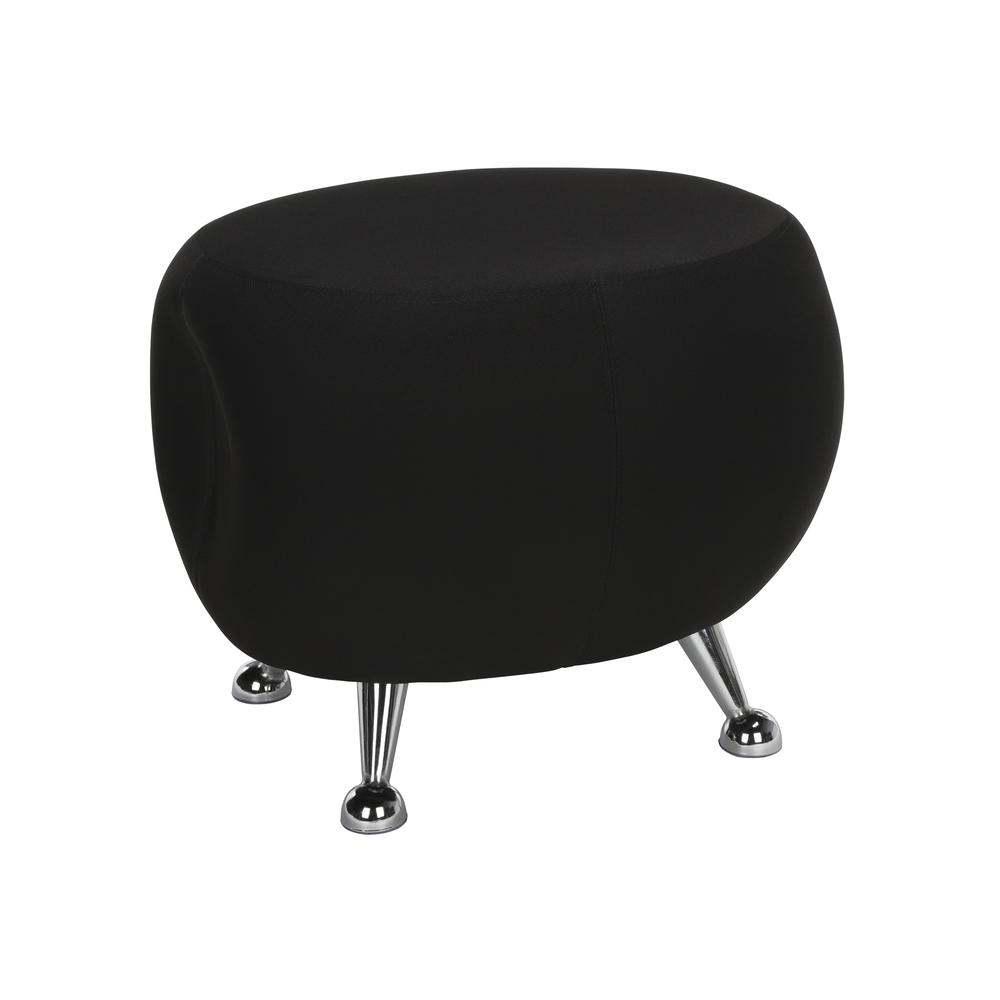 OFM Jupiter Series Fabric Ball Stool, in Black (2001-2327). Picture 1