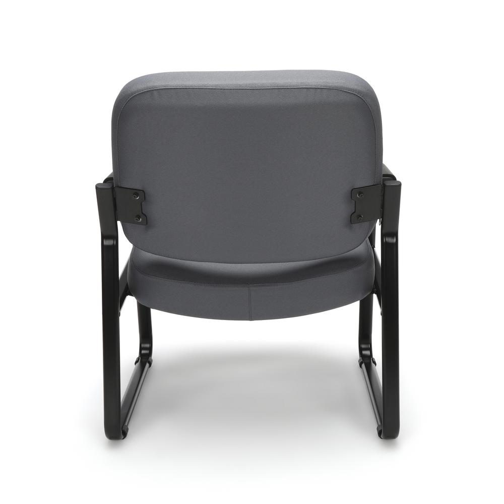 OFM Model 407 Fabric Big and Tall Guest and Reception Chair with Arms, Gray. Picture 3