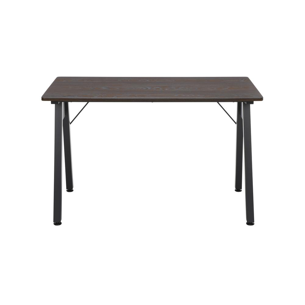 "OFM Essentials Collection 48"" Table Desk, in Wenge Woodgrain (ESS-1050-BLK-WEN). Picture 2"
