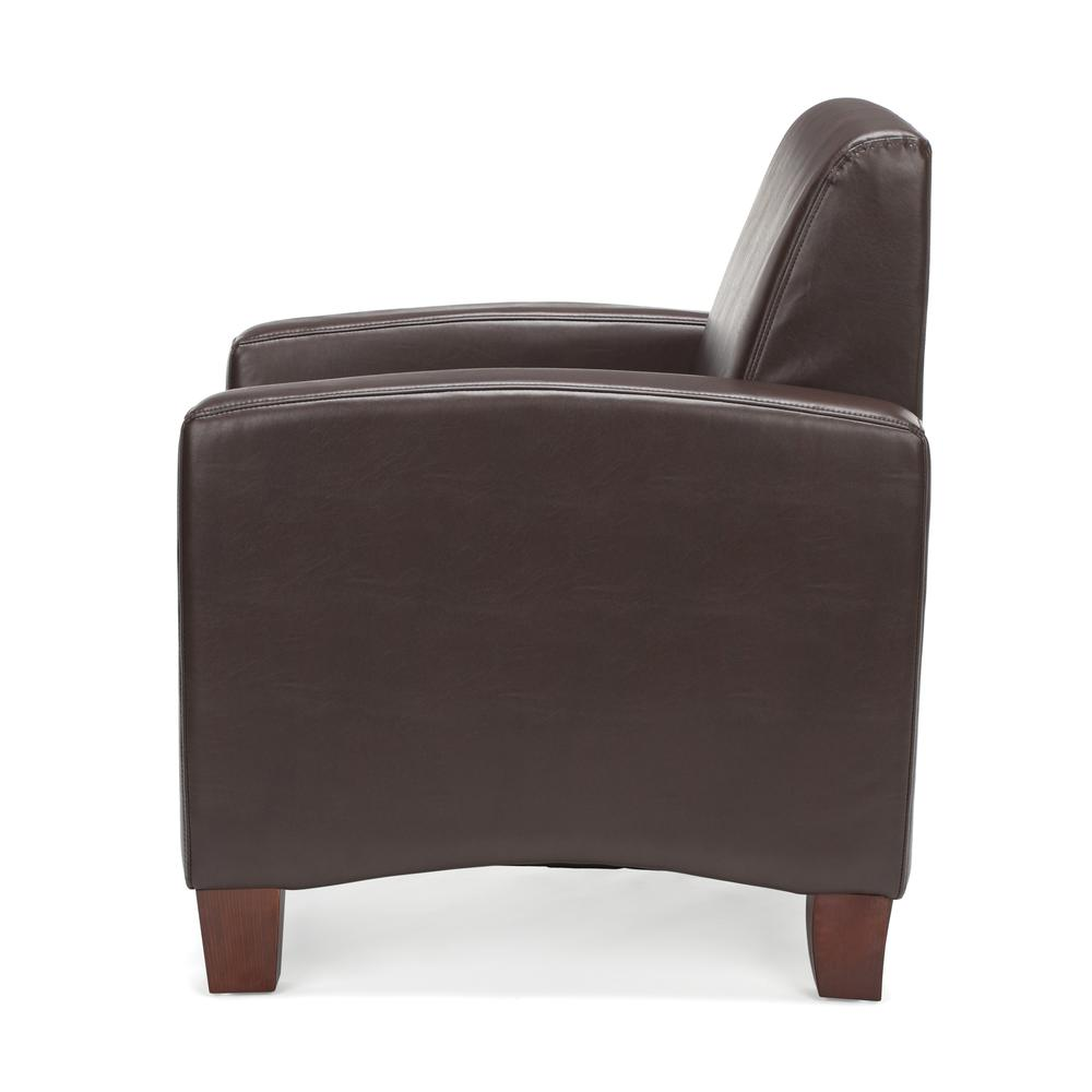 Essentials by OFM ESS-9050 Traditional Reception Arm Chair, Brown. Picture 5