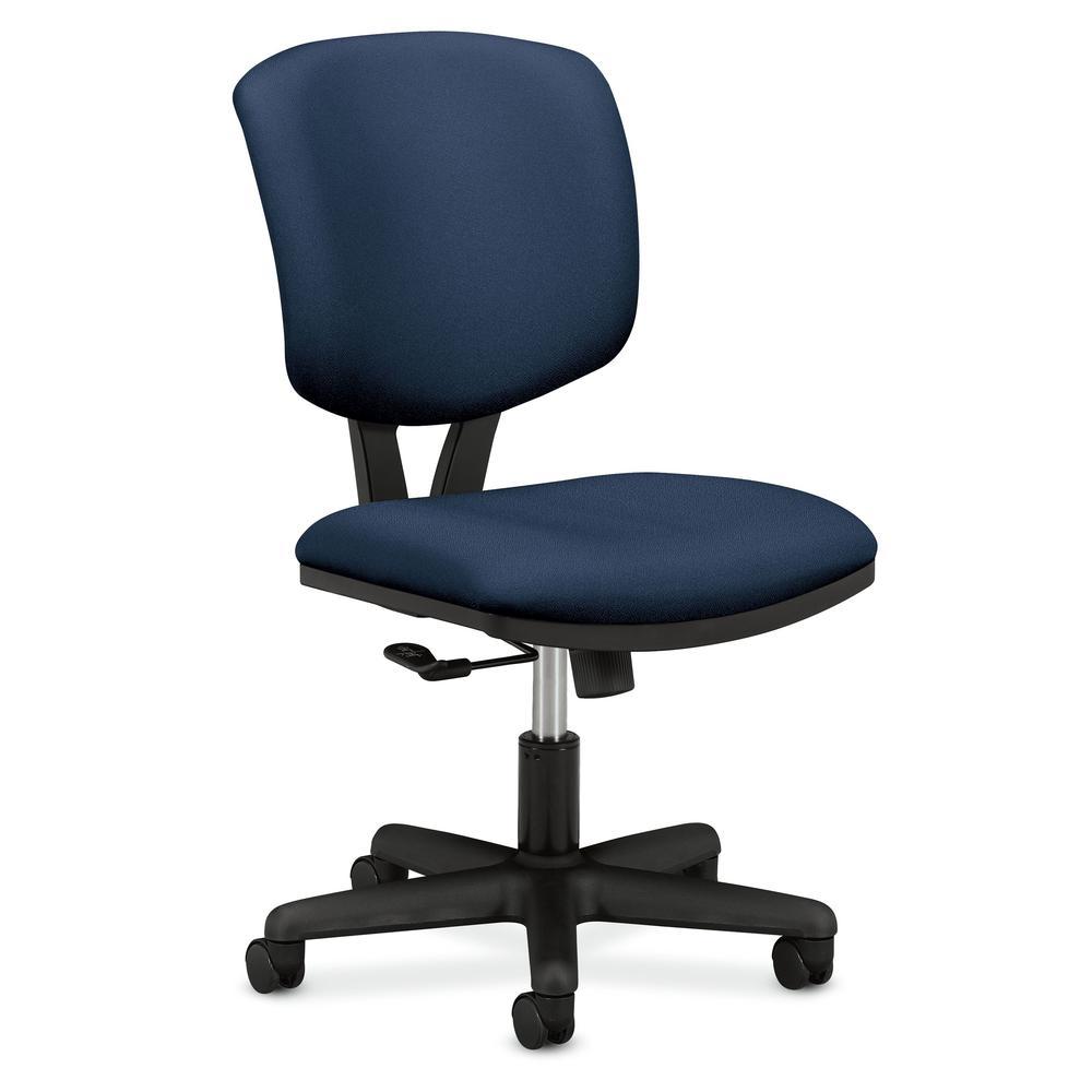 HON Volt Low-Back Task Chair - Upholstered Computer Chair for Office Desk -  Blue (H50)
