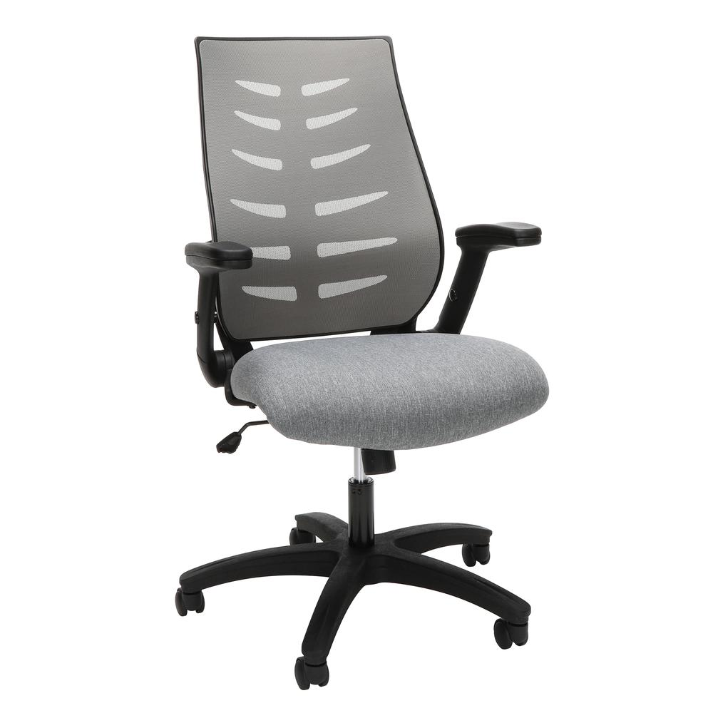 OFM Model 530-GRY Core Collection Midback Mesh Office Chair for Computer Desk, Gray. Picture 1