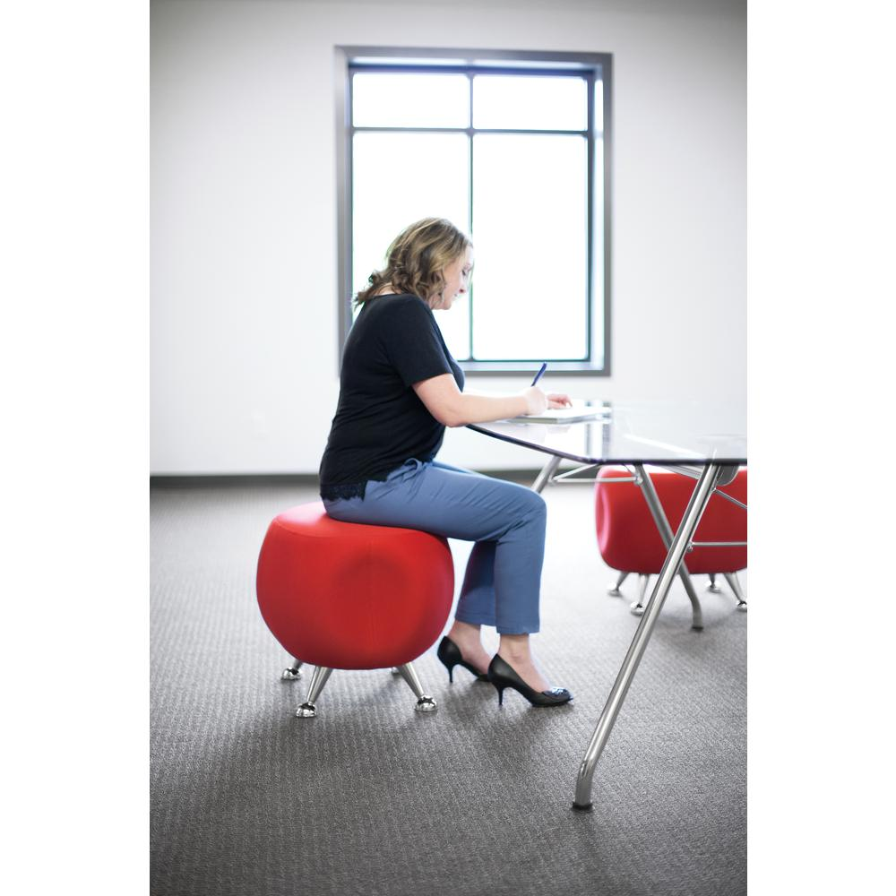 OFM Jupiter Series Fabric Ball Stool, in Red (2001-2312). Picture 7