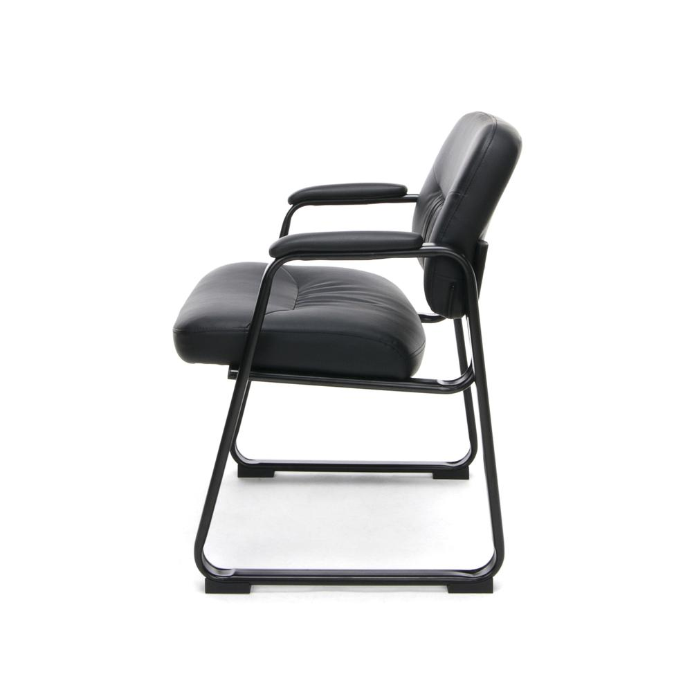 OFM ESS-9015 Bonded Leather Side Chair with SBase. Picture 5