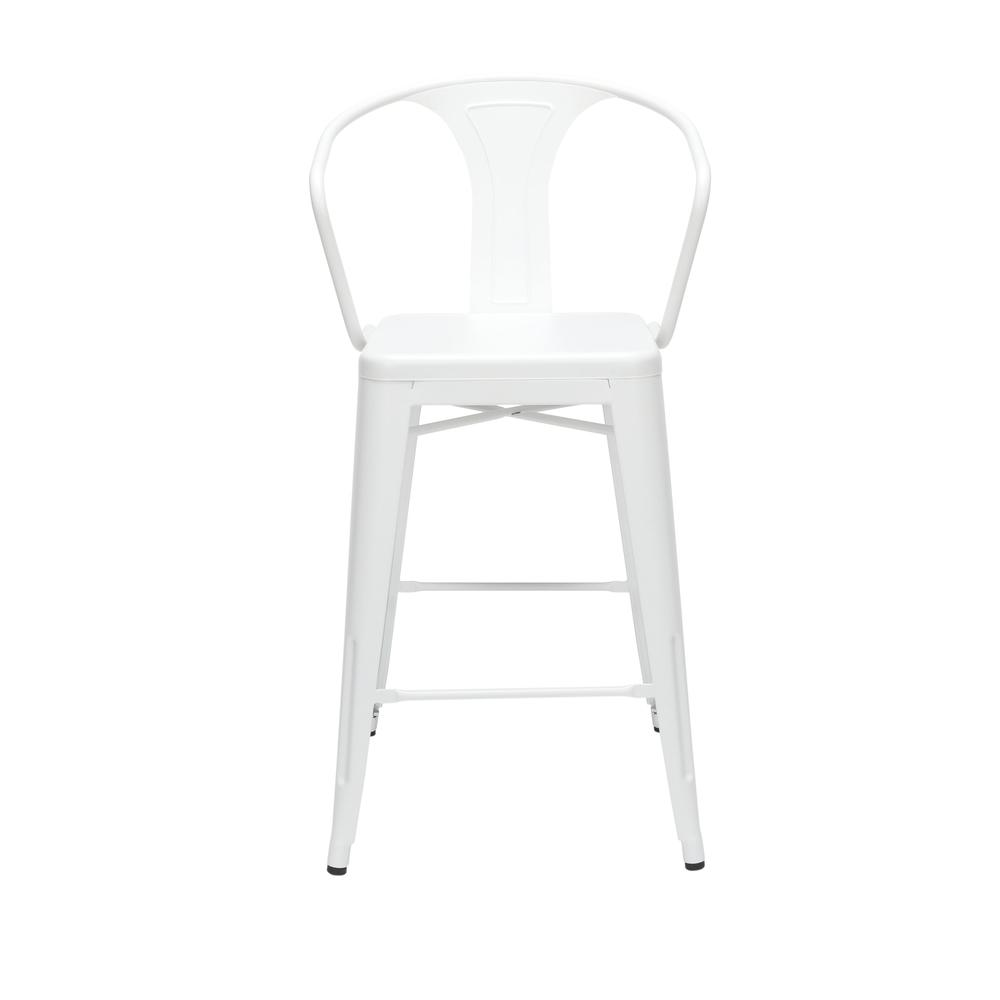"""The OFM 161 Collection Industrial Modern 26"""" Mid Back Metal Arm Chair Stools, 4 Pack, provide a comfortable, yet sophisticated, counter height seating solution for cafe tables and bars, suitable for i. Picture 2"""