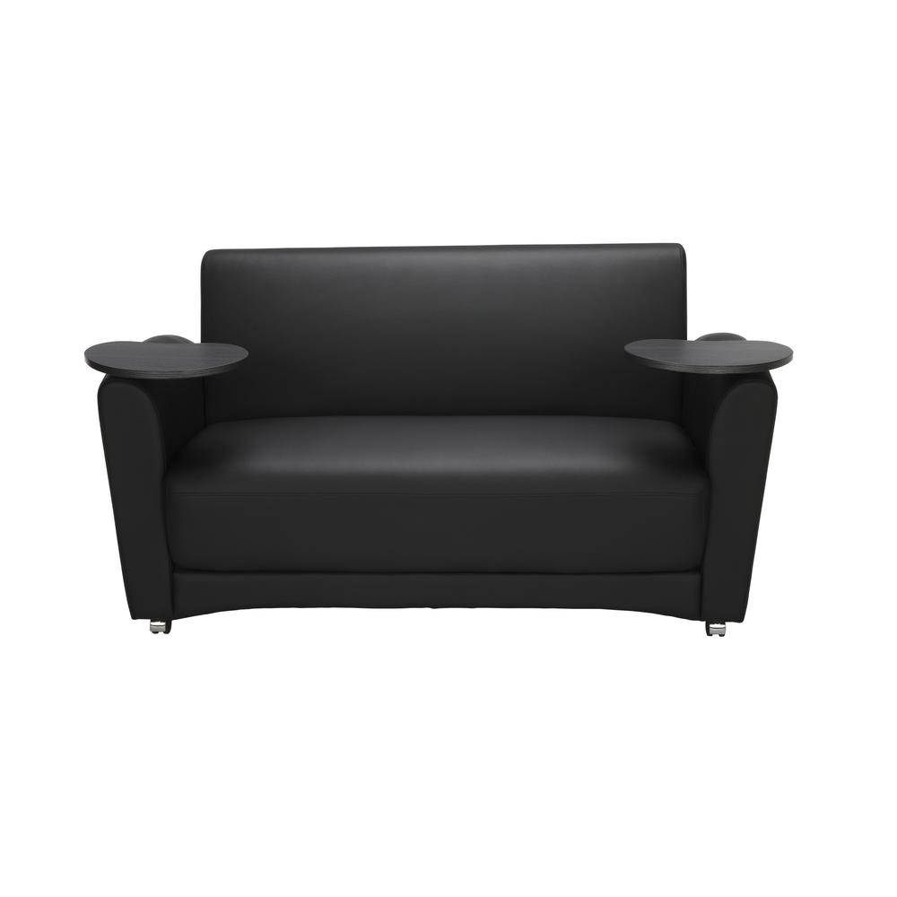 OFM  Soc Seating Sofa with Double Tungsten Tablets, (822-PU606-TNGST). Picture 2