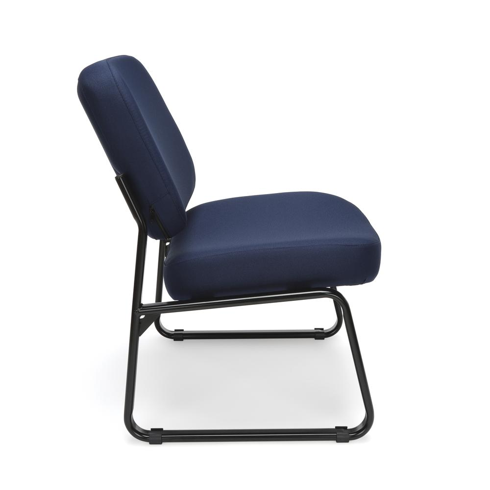 OFM Model 409 Big and Tall Fabric Armless Guest and Reception Chair, Navy. Picture 4