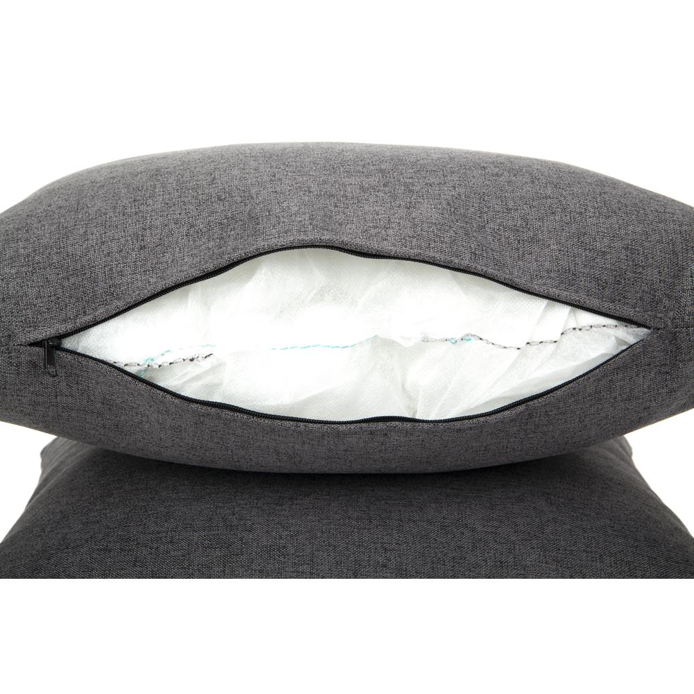 161 Collection Mid Century Modern 2-Pack 18 x 18 Accent Pillows, Dark Gray. Picture 10