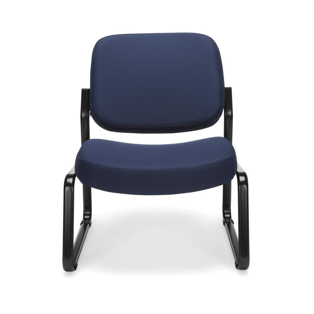 OFM Model 409 Big and Tall Fabric Armless Guest and Reception Chair, Navy. Picture 2