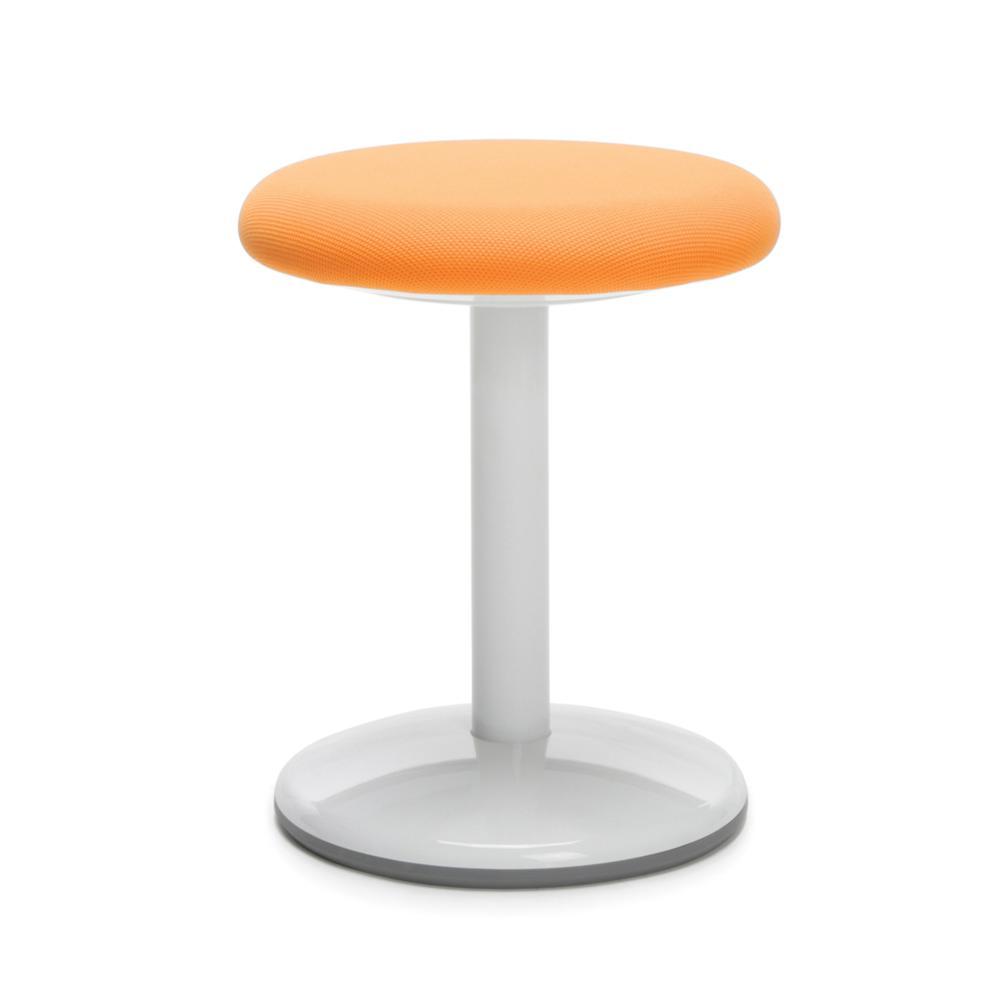 "OFM Orbit Series Model 2818-STA 18"" Fabric Static Stool, Orange. Picture 1"