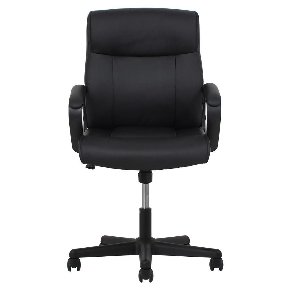 Essentials by OFM ESS-6010 Bonded Leather Executive Chair with Arms, Black. Picture 2