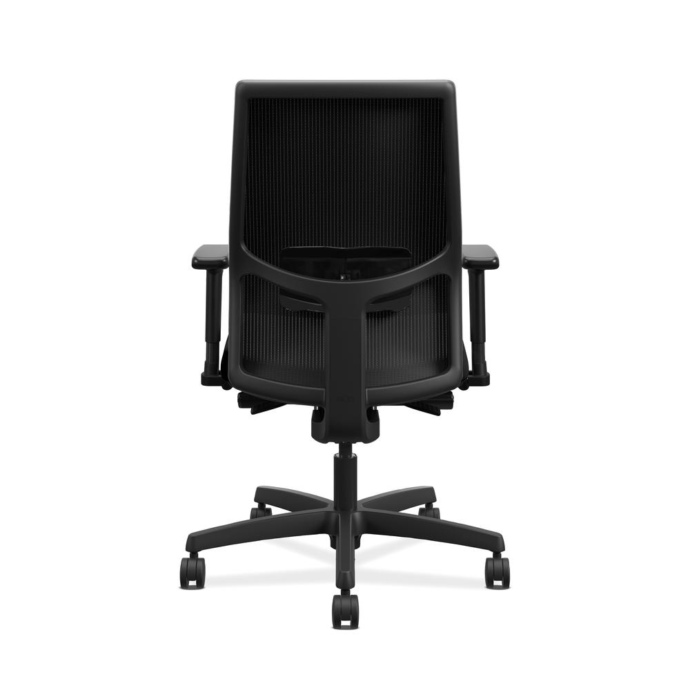 HON Ignition 2.0 Mid-Back Adjustable Lumbar Work Chair - Black Mesh Computer Chair for Office Desk, Black Fabric (HONI2M2AMLC10TK). Picture 3
