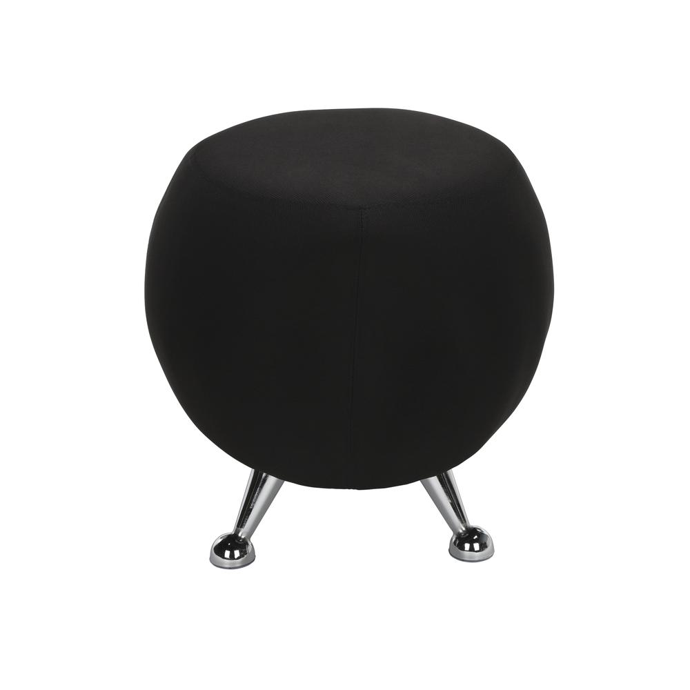 OFM Jupiter Series Fabric Ball Stool, in Black (2001-2327). Picture 4