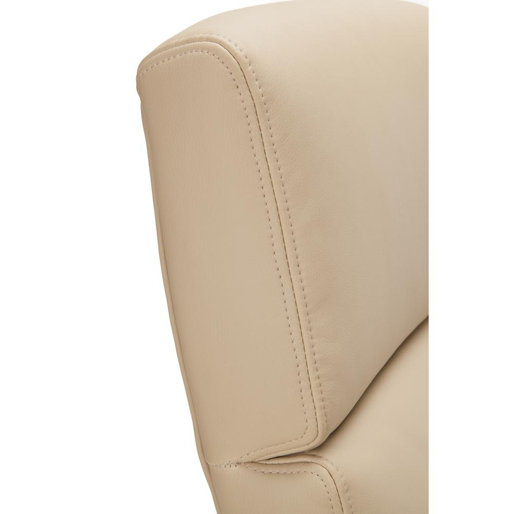 OFM Model 568 High-Back Bonded Leather Manager's Chair, Cream with Chrome Base. Picture 6