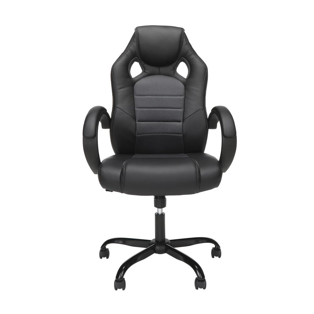 Essentials Collection High-Back Gaming Chair, Padded Loop Arms, in Gray (ESS-3083HB-GRY). Picture 2