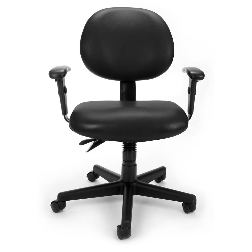 OFM Model 241-VAM-AA Task Chair with Arms, Anti-MicrobMid Back. Picture 2