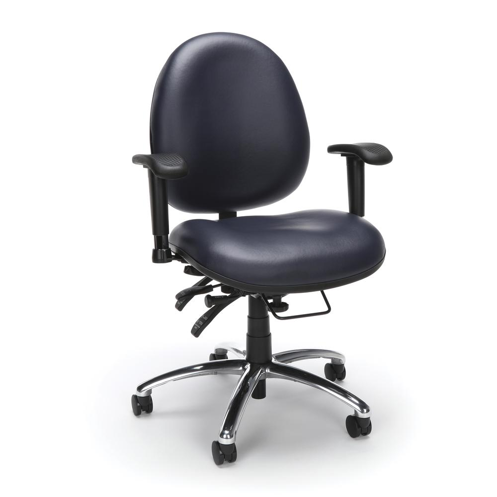 OFM Model 247-VAM Big , Tall Computer Swivel Task Chair with Arms, Vinyl. Picture 1