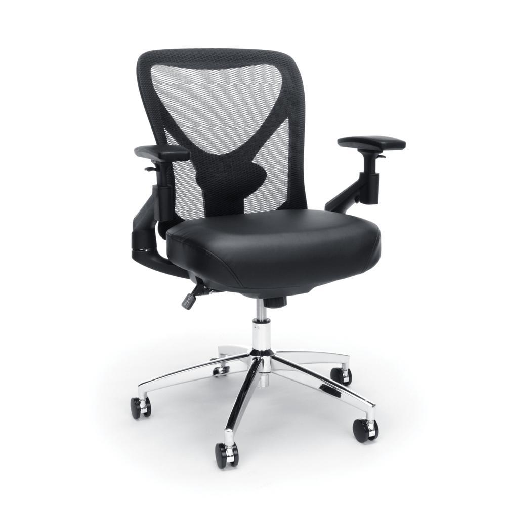 OFM Stratus Series Model 257-VAM 24-Hour Big & Tall High-Back Vinyl Mesh Chair,  Black. Picture 1