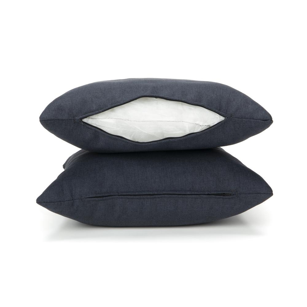 161 Collection Mid Century Modern 2-Pack 18 x 18 Accent Pillows, Navy. Picture 9