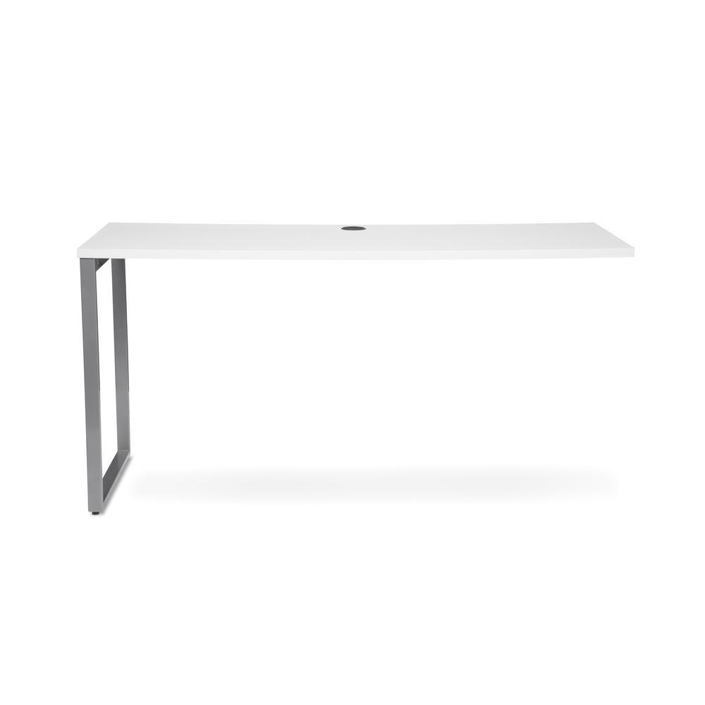 OFM Fulcrum Series 60x24 Credenza Desk, Desk Shell for Office, White (CL-C6024-WHT). Picture 2