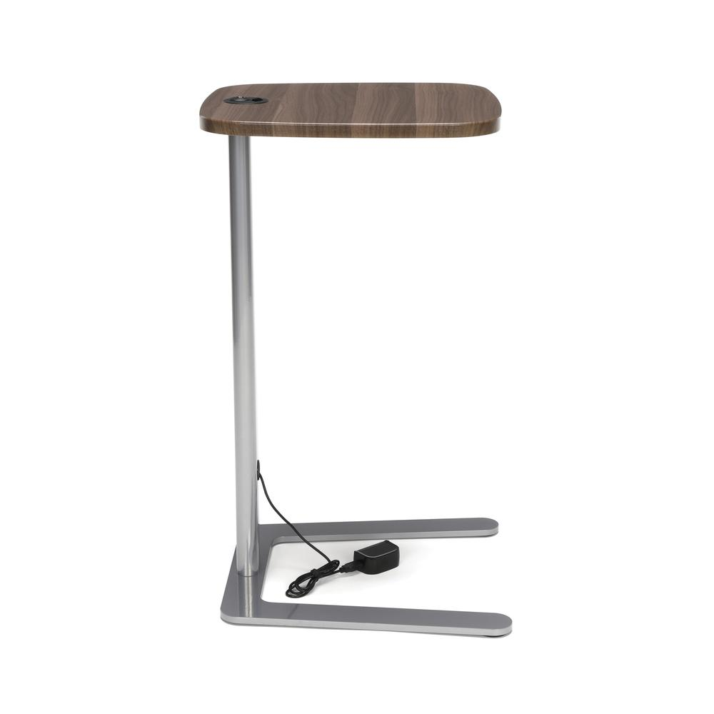 OFM Model ACCTAB Accent Table with USB Grommet, Walnut. Picture 4