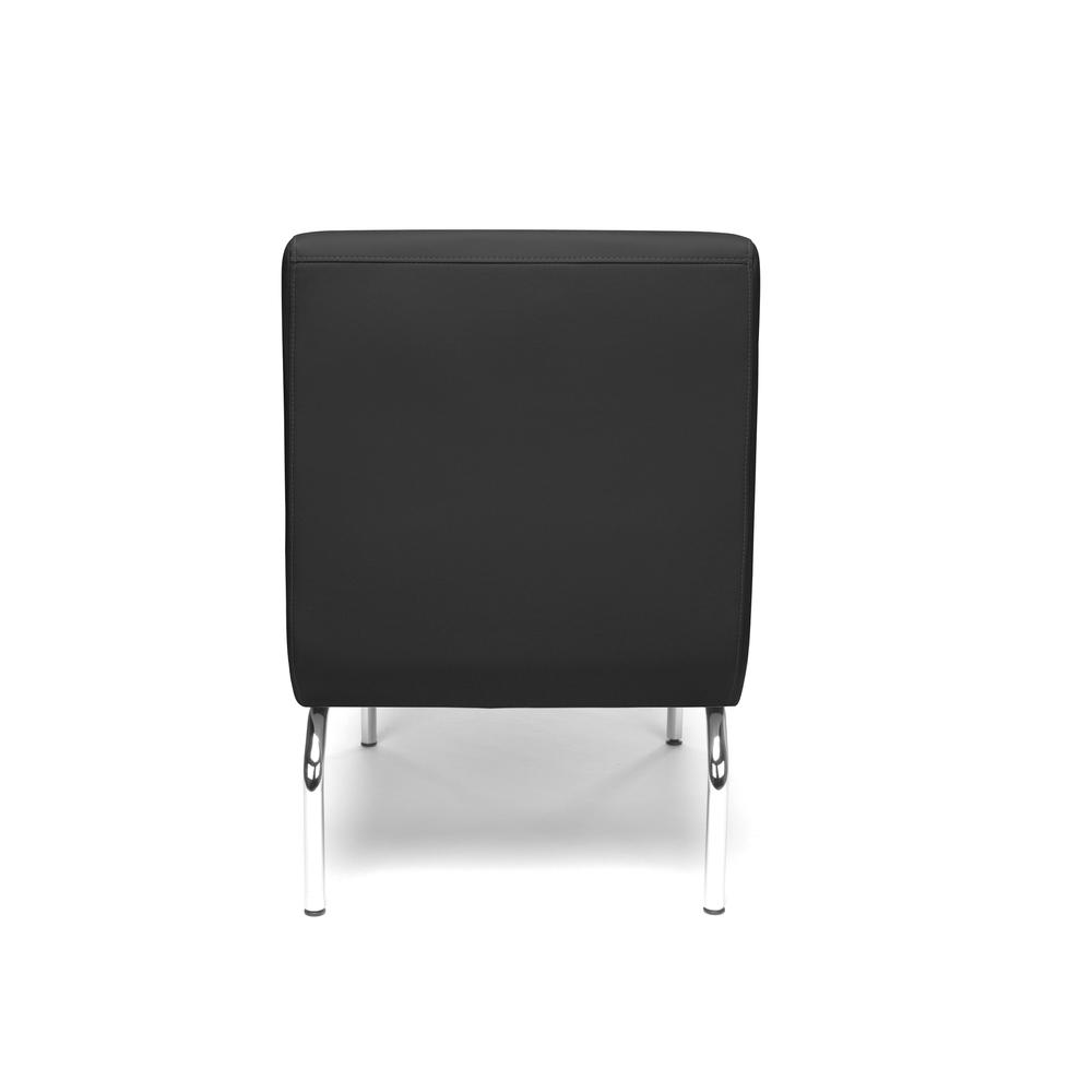 OFM Triumph Series Armless Modular Lounge Chair, in Black (3000-PU606). Picture 3