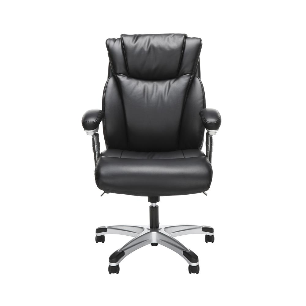 OFM Essentials Series Ergonomic Executive Bonded Leather Office Chair, in Black (ESS-6046-BLK). Picture 2