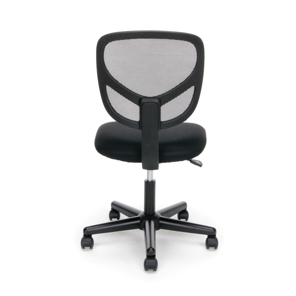 Essentials by OFM ESS-3000 Swivel Mesh Back Armless Task Chair, Black. Picture 3