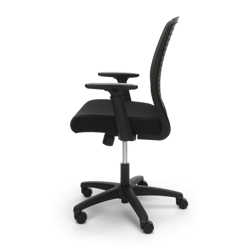 Essentials by OFM ESS-2055 Plastic Back Ergonomic Task Chair, Black with Black. Picture 5