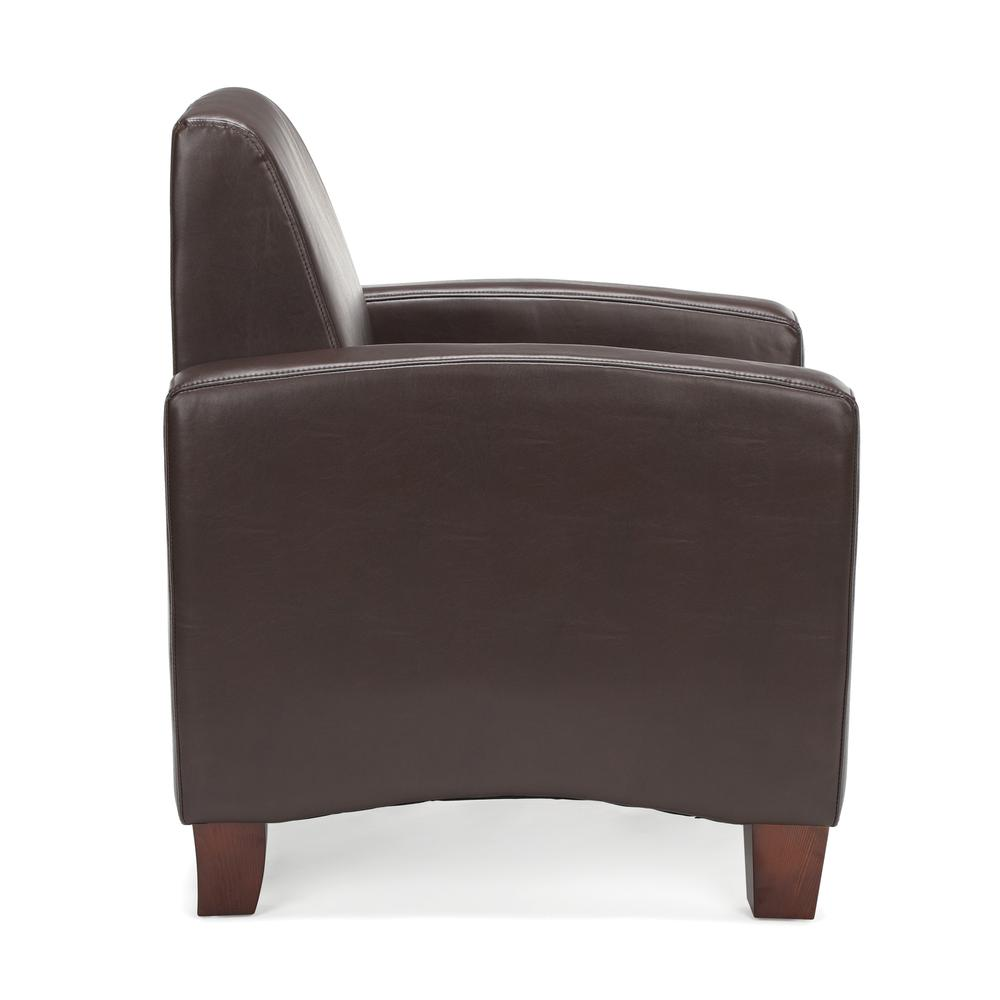 Essentials by OFM ESS-9050 Traditional Reception Arm Chair, Brown. Picture 4