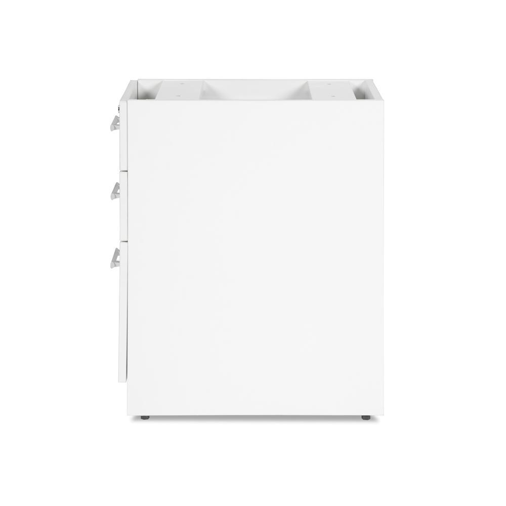 OFM Fulcrum Series Locking Pedestal, 3-Drawer Filing Cabinet, White (CL-BBF-WHT). Picture 5
