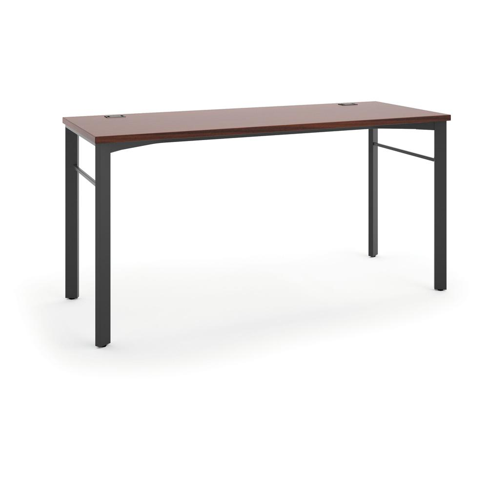 HON Manage Table Desk - Compact Work Station, 60w x 23.5d x 29.5h, Chestnut/Ash (HMLD60)
