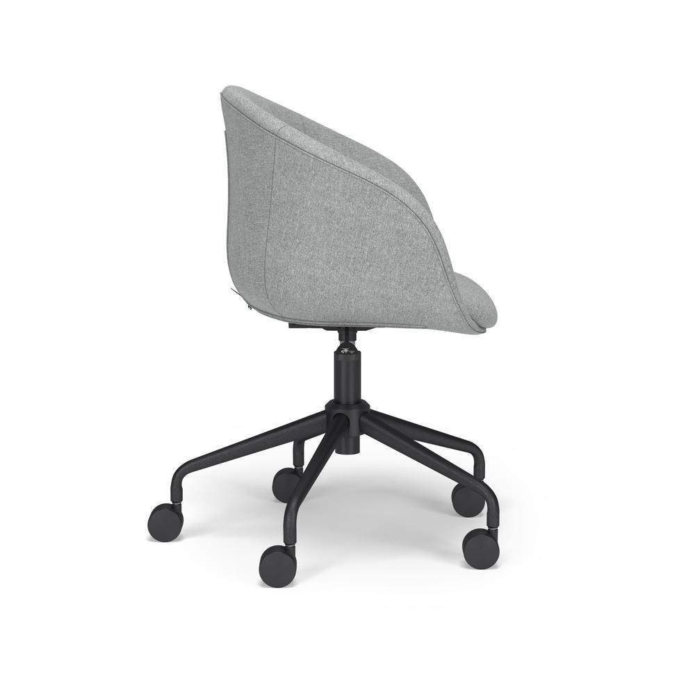 HON Basyx Monroe Fabric Upholstered Task Chair, Office Chair, in Gray (BSX101VA19T). Picture 4