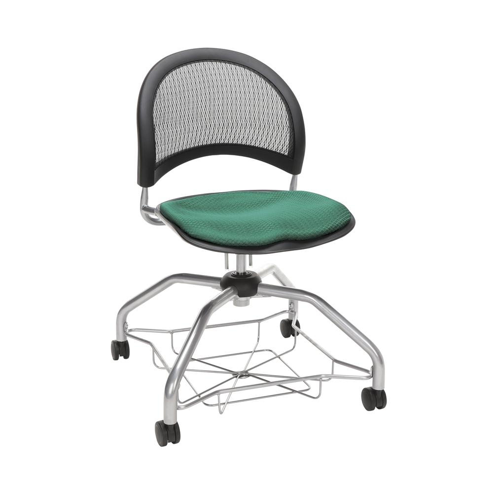 OFM Moon Foresee Series Chair with Removable Fabric Seat Cushion - Student Chair, Shamrock Green (339). Picture 1