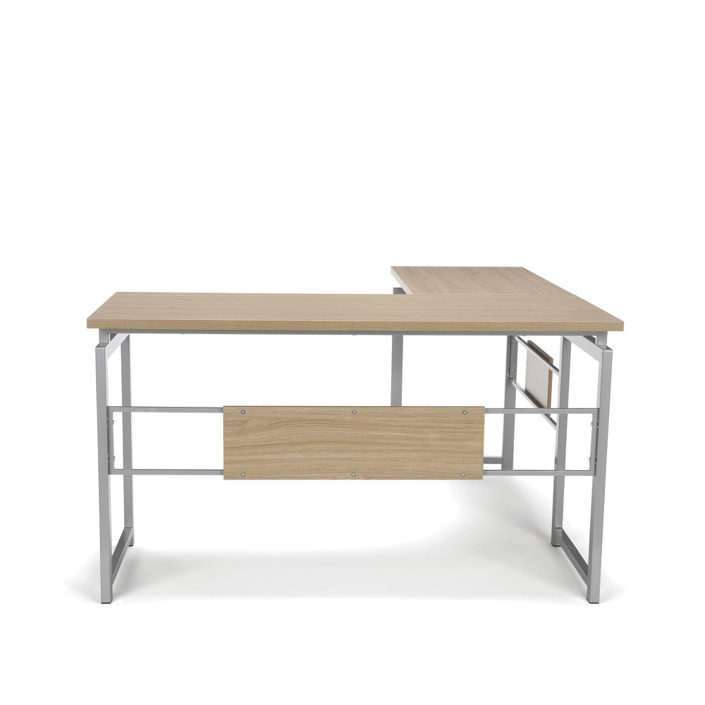 Essentials by OFM ESS-1020 L Desk with Metal Legs, Harvest with Silver Frame. Picture 3
