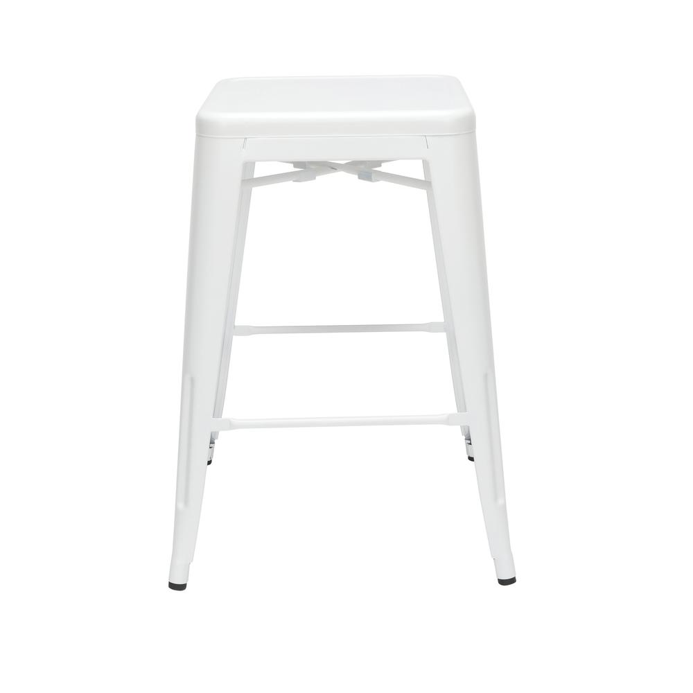 """The OFM 161 Collection Industrial Modern 26"""" Backless Metal Bar Stools, 4 Pack, require no assembly, are stackable, and provide a roomy 15 square inches of seating surface. These counter height stools. Picture 5"""