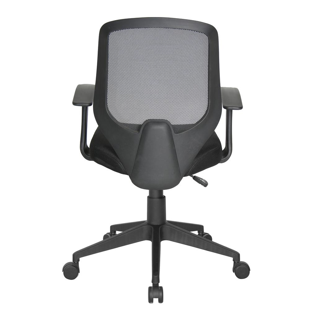 Essentials by OFM E1000 Mesh Swivel Task Chair with Arms, Black. Picture 3