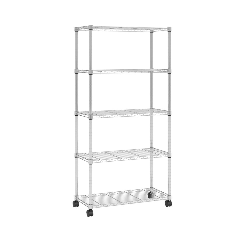 OFM Adjustable Wire Shelving Unit 30 x 60, in Chrome (S306014-CHRM). Picture 1