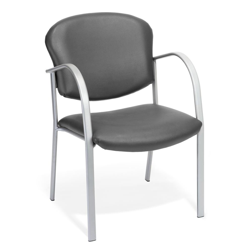OFM Model 414-VAM Contract Reception Chair, Anti-MicrobCharcoal. Picture 1