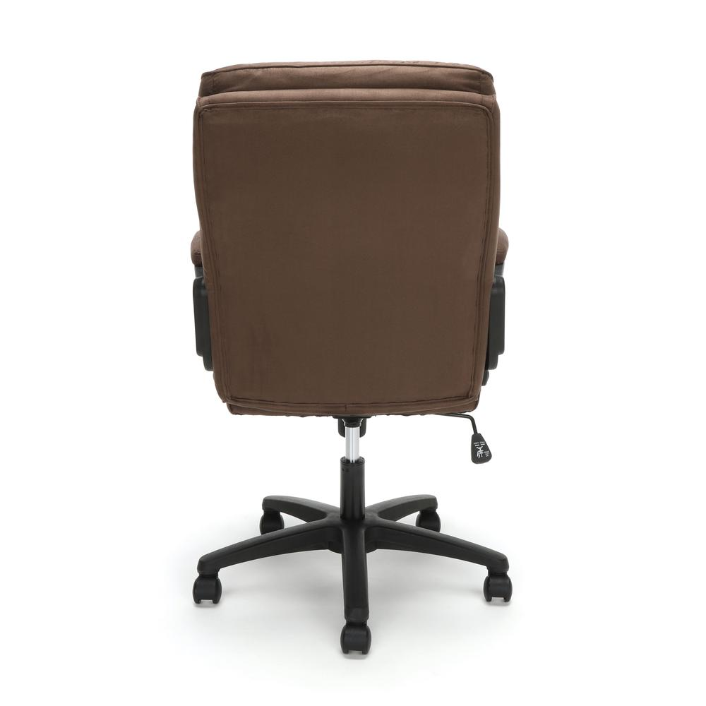 Essentials by OFM ESS-3082 Plush Microfiber Office Chair, Brown. Picture 3