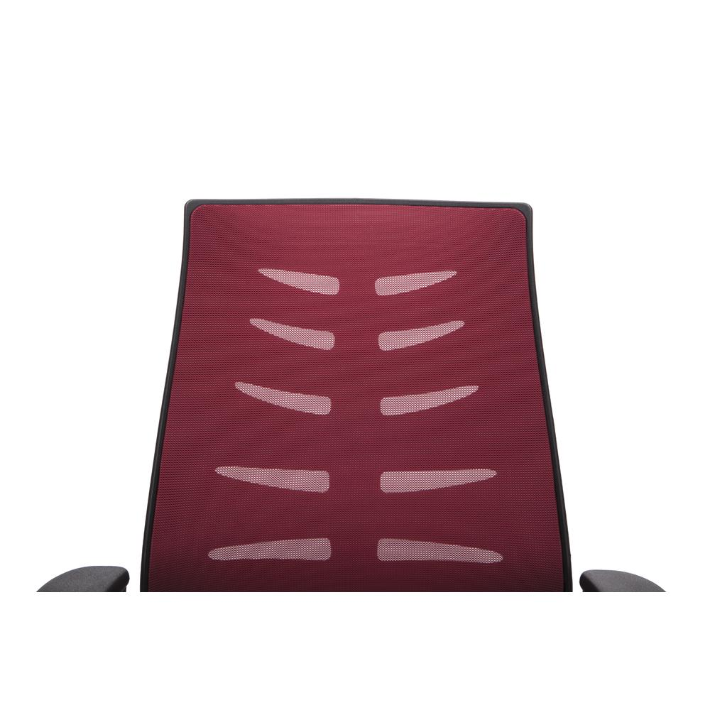OFM Model 530-BURG Core Collection Midback Mesh Office Chair for Computer Desk, Burgundy. Picture 6