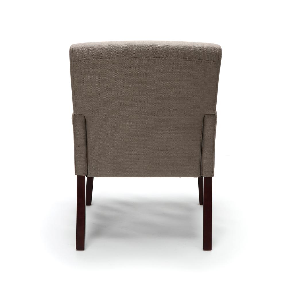 OFM ESS-9025 Fabric Guest Chair with Arms and Wooden Legs, Tan. Picture 3
