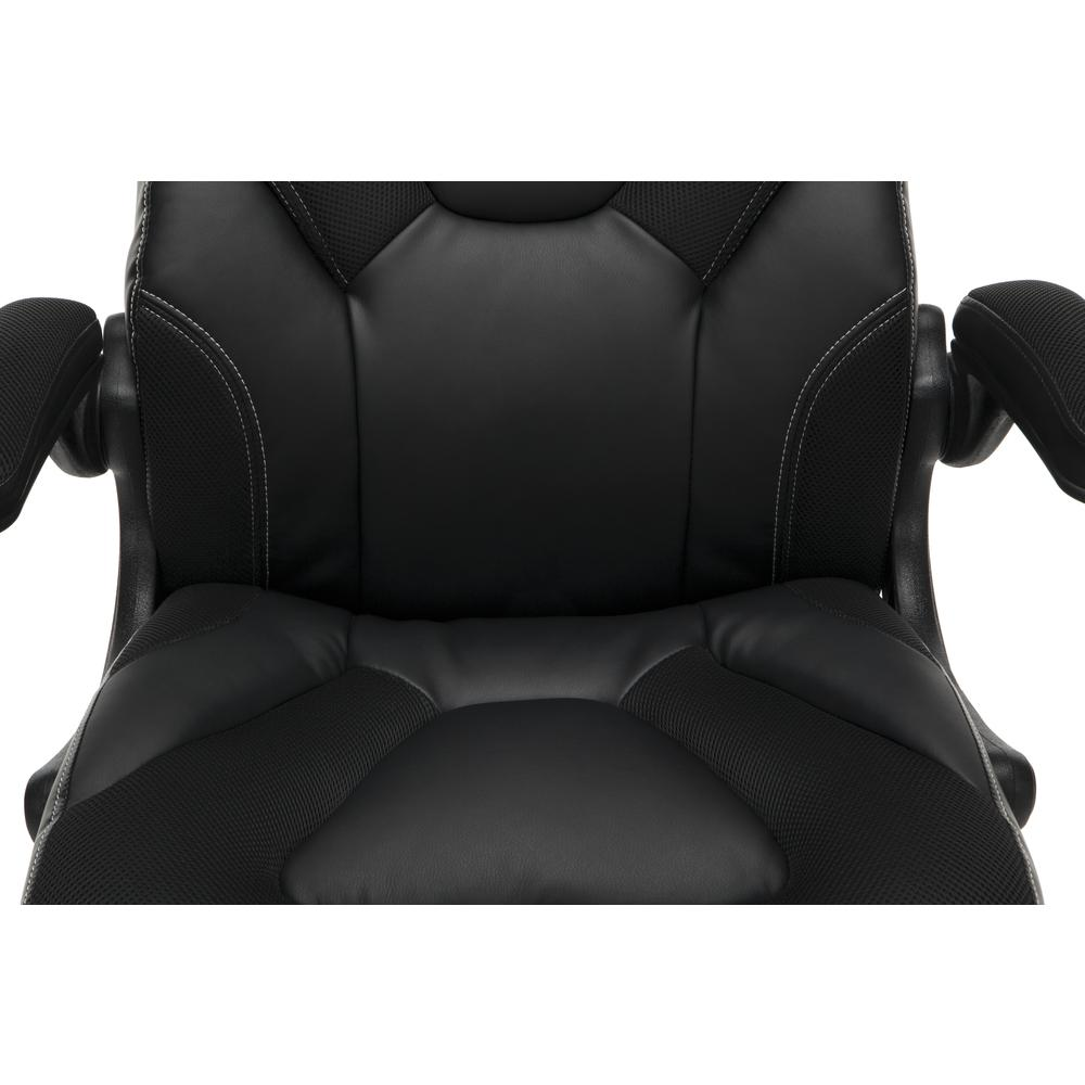 Racing Style Bonded Leather Gaming Chair, in Black. Picture 8