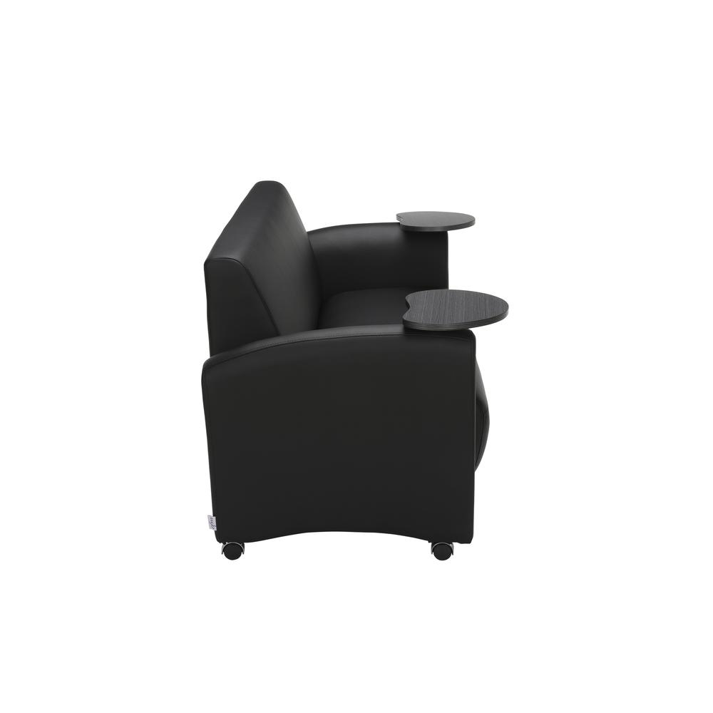 OFM  Soc Seating Sofa with Double Tungsten Tablets, (822-PU606-TNGST). Picture 4