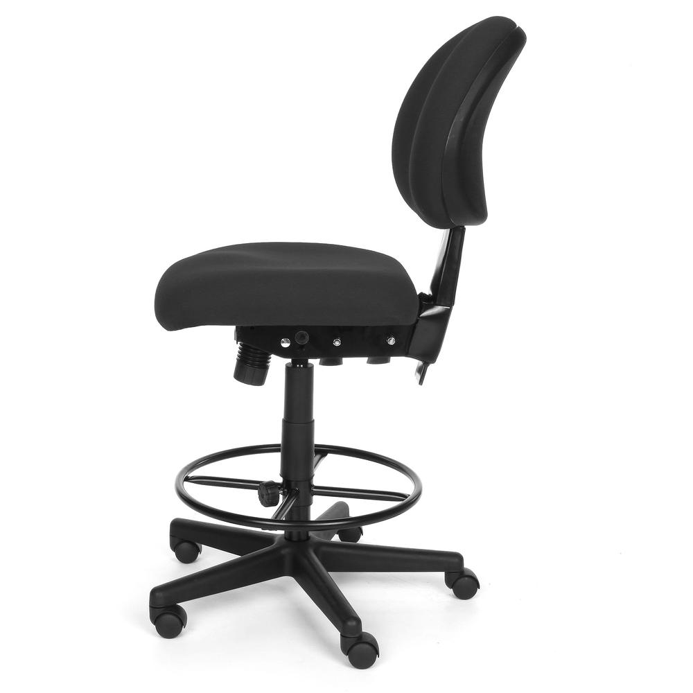 OFM 241-DK Upholstered Armless Task Chair with Kit, Charcoal. Picture 3