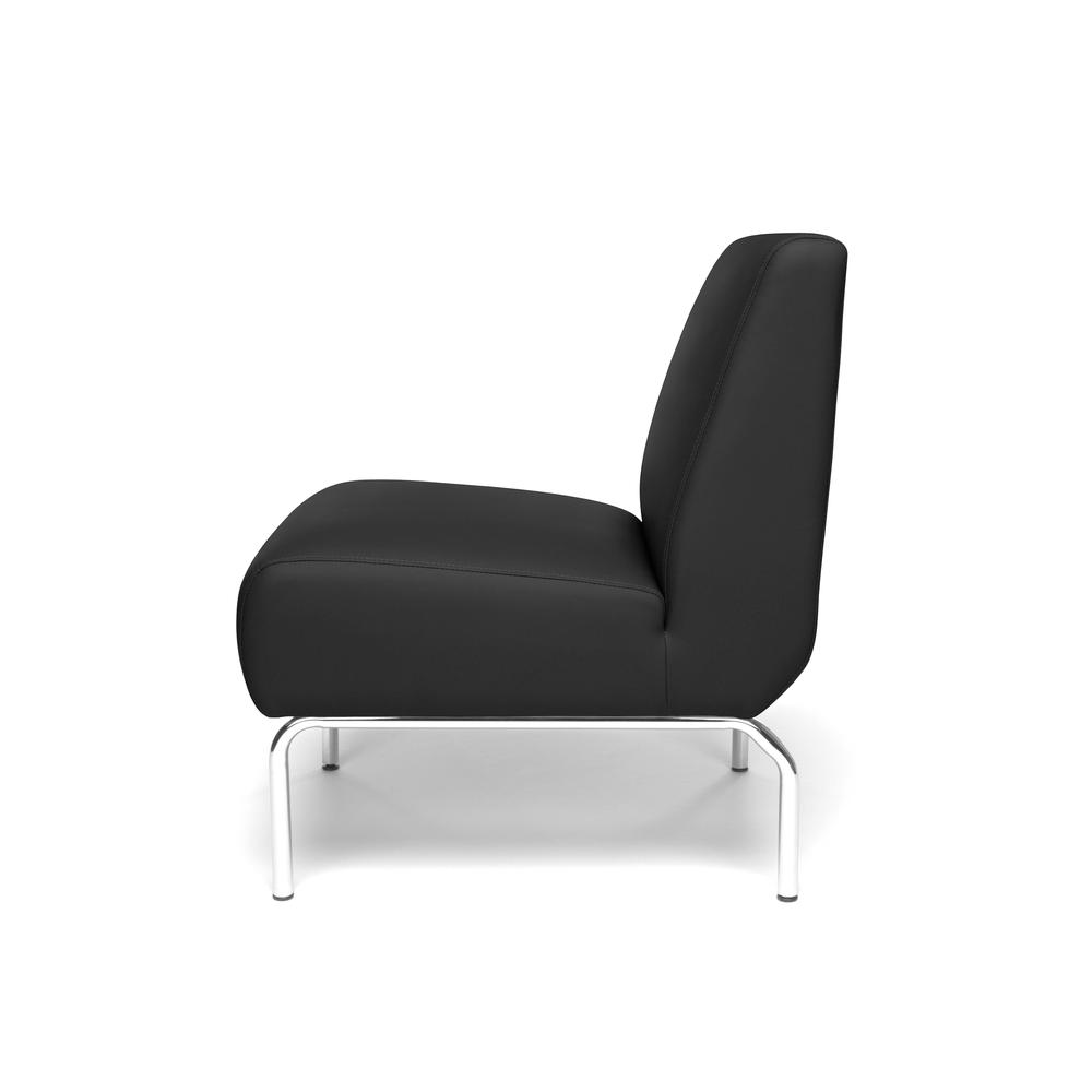 OFM Triumph Series Armless Modular Lounge Chair, in Black (3000-PU606). Picture 5