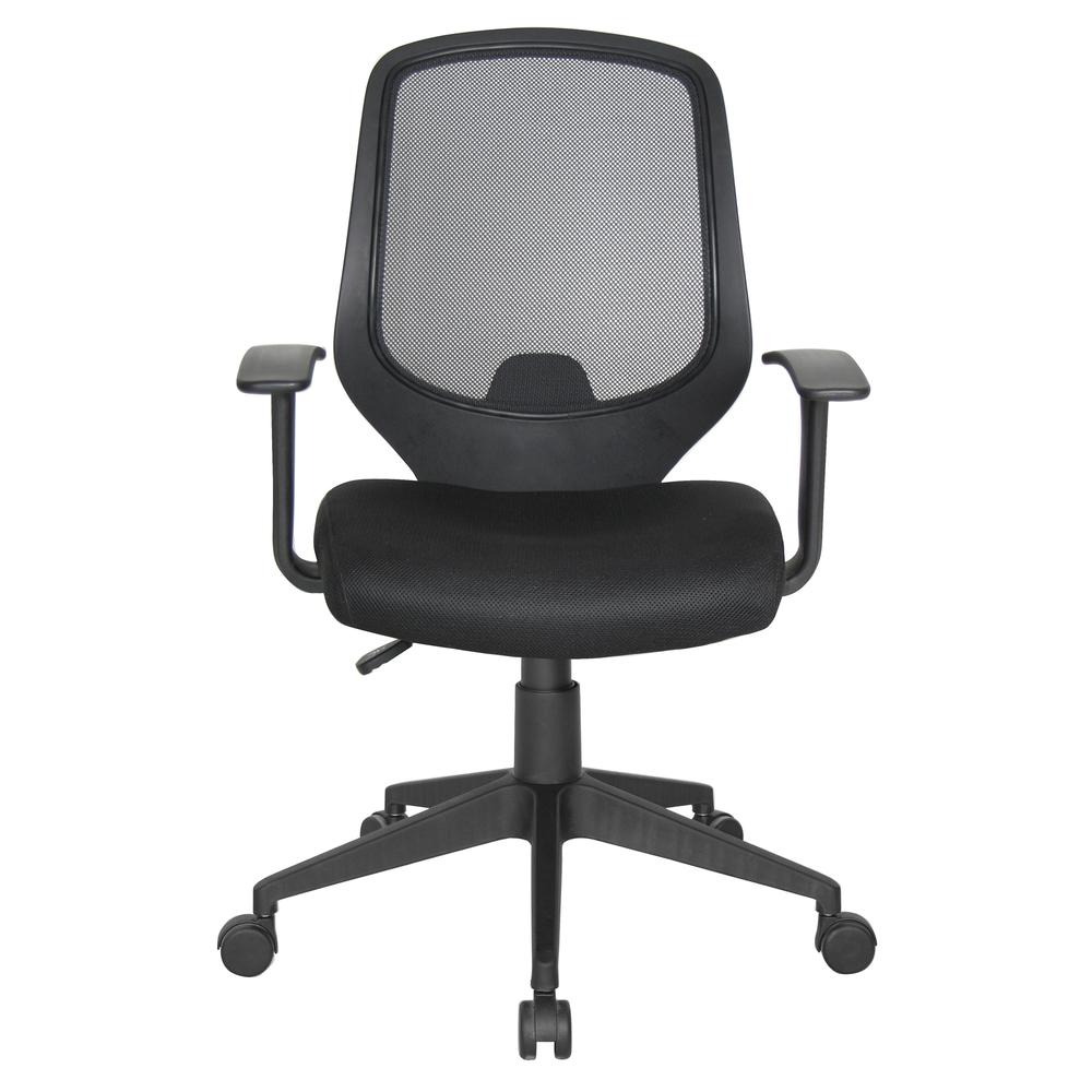 Essentials by OFM E1000 Mesh Swivel Task Chair with Arms, Black. Picture 2