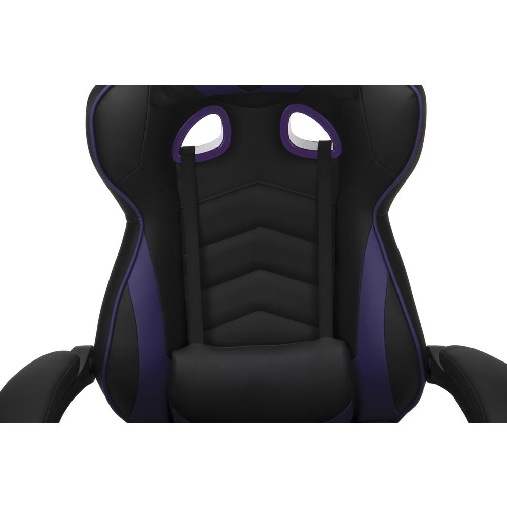 RESPAWN 110 Racing Style Gaming Chair with Footrest, in Purple. Picture 8