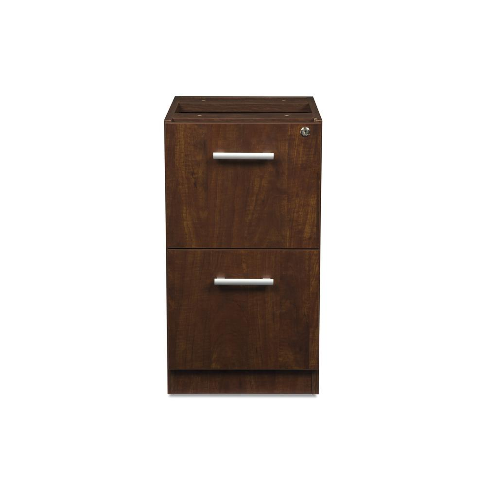 OFM Fulcrum Series Locking Pedestal, 2-Drawer Filing Cabinet, Cherry (CL-FF-CHY). Picture 2