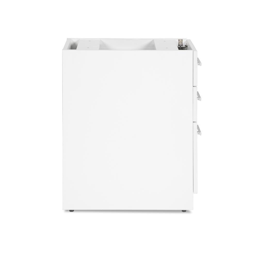 OFM Fulcrum Series Locking Pedestal, 3-Drawer Filing Cabinet, White (CL-BBF-WHT). Picture 4